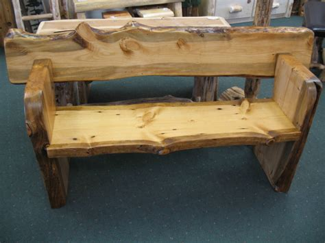 slab bench outdoor slab pine benches with backs sisters log furniture