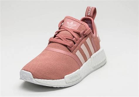 Po Nmd R1 Primeknit Salmon femmes adidas nmd r1 quot salmon quot blanc sneaker boost runner primeknit s76006
