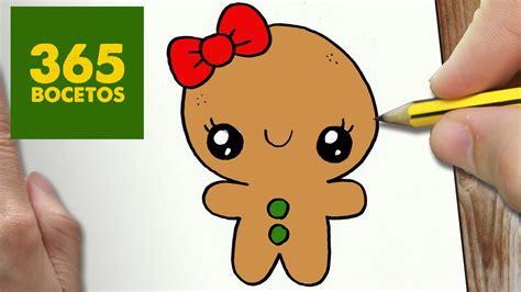 imagenes de figuras kawaii como dibujar un galleta para navidad paso a paso dibujos
