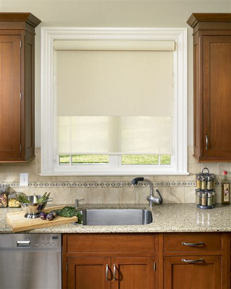 Roller Shades For Windows Designs Roller Shades Traditional Kitchen Boston By Shades In Place