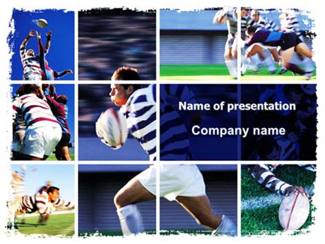 power point themes rugby rugby collage presentation template for powerpoint and