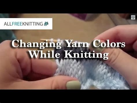 adding yarn when knitting how to change yarn colors when knitting