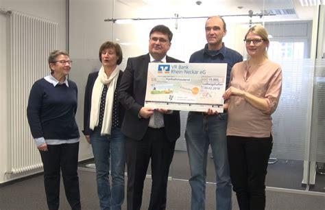 vr bank hördt mannheim ludwigshafen vr bank stiftung spendete 15 000