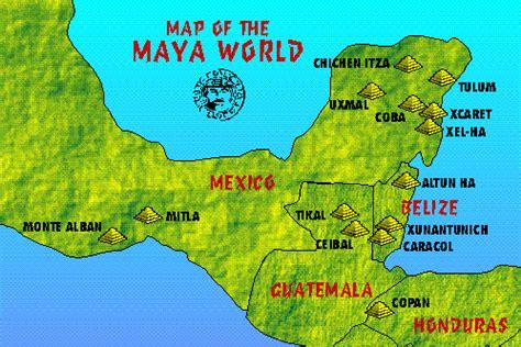 mayan ruins map the mayanworld mayan culture the o