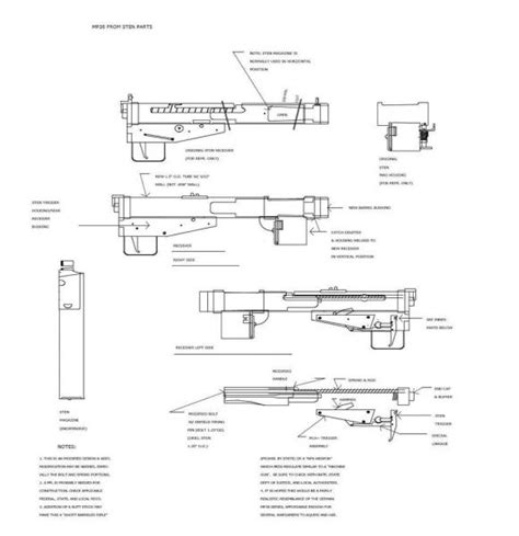 sten mk3 template pin sten blueprints on