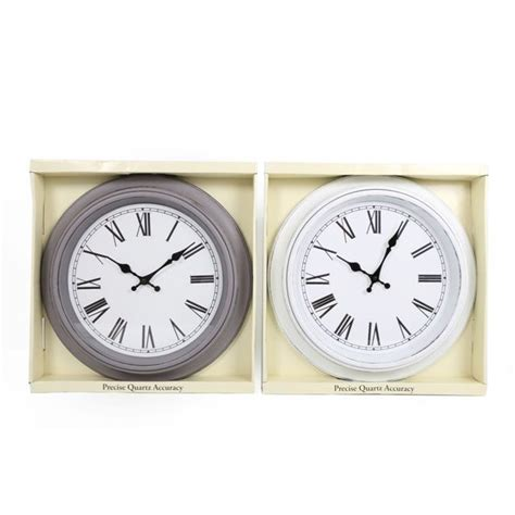 white shabby chic wall clock quartz antique shabby chic style large wall