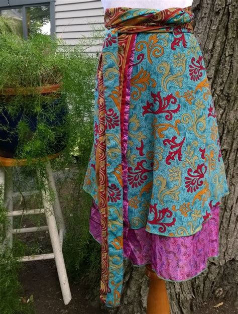 sari silk wraps on pinterest wrap skirts saris and silk sari silk wrap skirt yarns wraps and casual chic