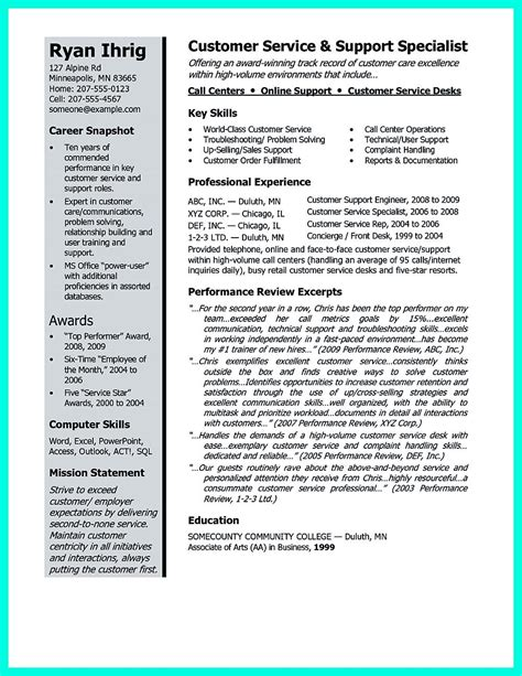 good resume customer service objective statements resume example