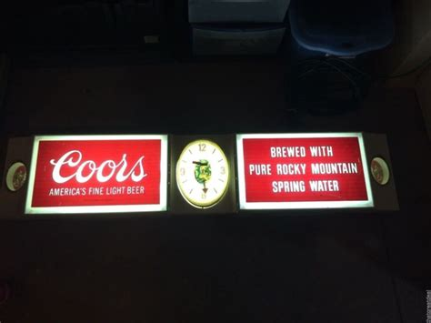 coors light lighted sign coors lighted sign shop collectibles daily