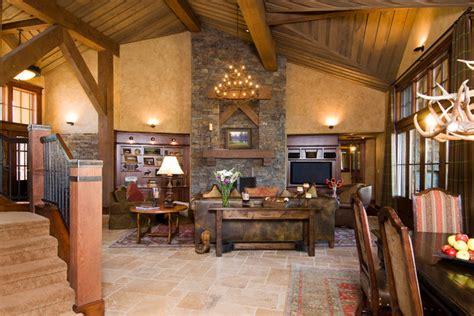lodge living room crosswater ski lodge traditional living room