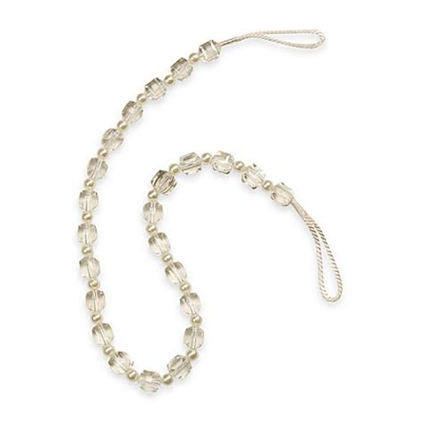 crystal curtain tie backs buy crystal tie back in pearl from bed bath beyond
