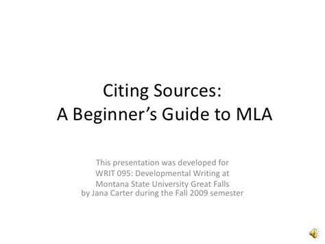 citing sources a beginner s guide to mla