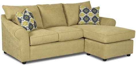 Loveseat Lounger sofa with reversible chaise lounge by klaussner wolf and gardiner wolf furniture