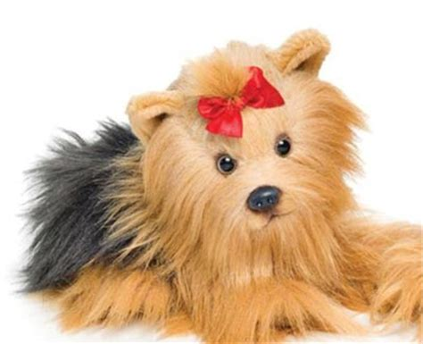 stuffed yorkie puppy stuffed terriers plush toys