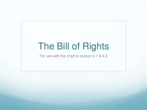 bill of rights section 4 the bill of rights