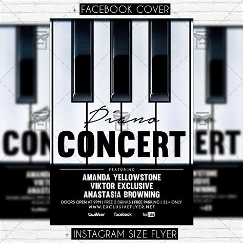 Piano Template by Piano Concert Premium Flyer Template