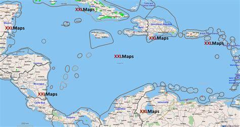 imagenes satelitales mar caribe physische karte von karibisches meer kostenloser