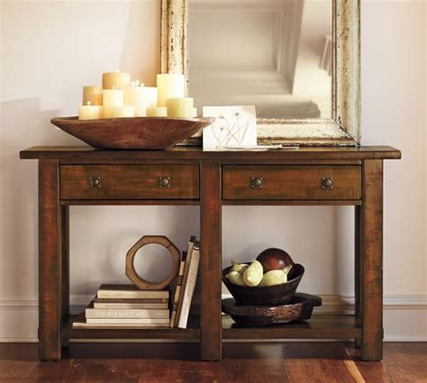 Pottery Barn Entry Table benchwright console table pottery barn