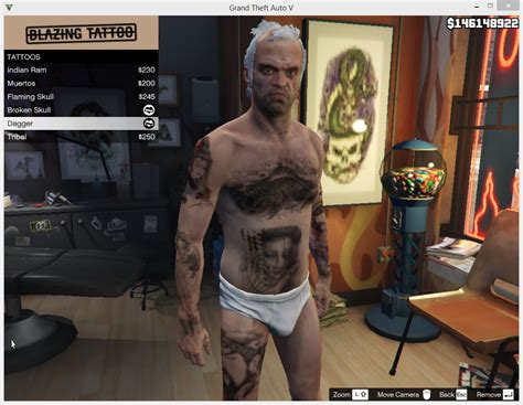 tattoo gta v online trevor tattoo pack gta5 mods com