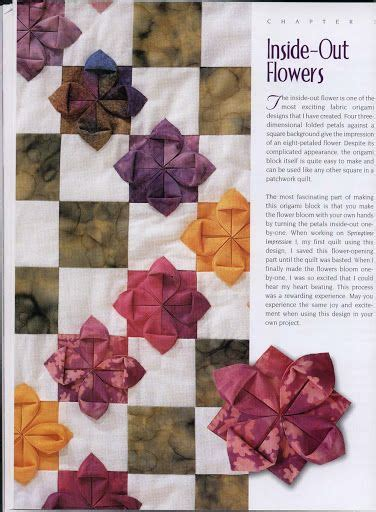 Origami Fabric Flowers - 17 best images about origami on iris folding