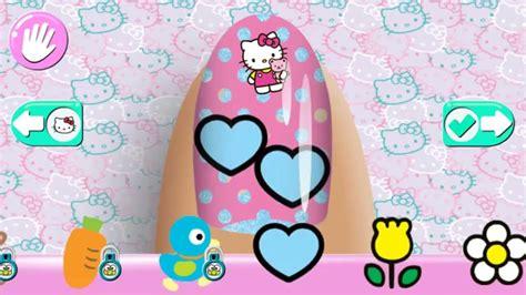 kitty nail salon nagels app game spel kind budge