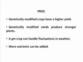 Genetically Modified Crops And Food Security Essay by Genetically Modified Food Pros And Cons