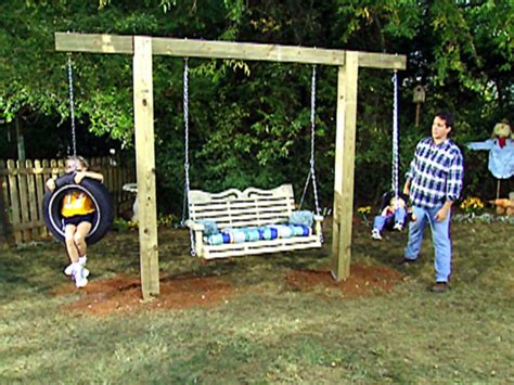 how to make a backyard swing wood veneer sheets building a tire swing frame english