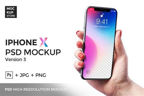 iphone x mockup version 3 mobile web mockups creative market