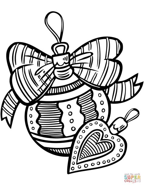 Coloring Pages For Ornaments by Ornaments Coloring Page Free Printable