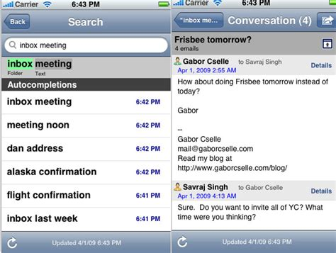 Search Email Iphone Y Combinator S Remail Finally Brings Text Email