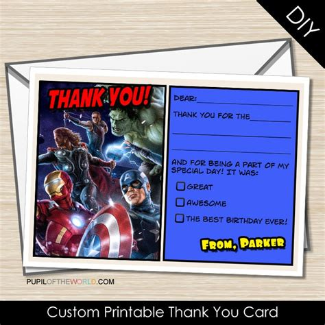 avengers printable thank you cards 20 best images about captain america b day bash on