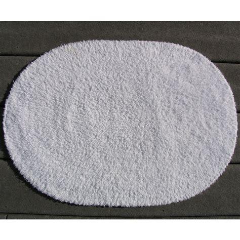 Oval Bath Rugs Faze 3 Reversible Cotton Oval Bath Rug 21x34 White 12 Per Price Per Each