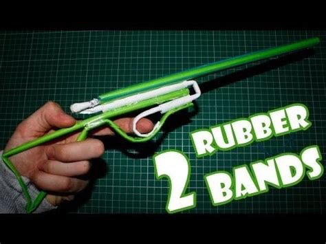 How To Make A Paper Shotgun That Shoots - paper gun that shoots 2 rubber bands paper shotgun