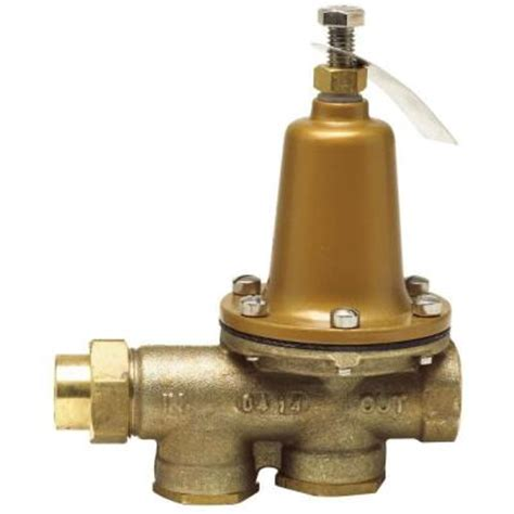 Prv Plumbing by Watts 3 4 In Brass Fpt X Fpt Pressure Reducing Valve 3 4 Lf25aub Z3 The Home Depot