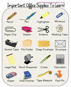 office supplies esl vocabularies esl vocabulary