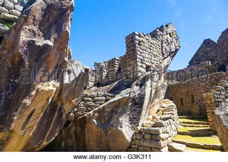 The Lost City Of The Condor temple of the condor machu picchu peru stock photo
