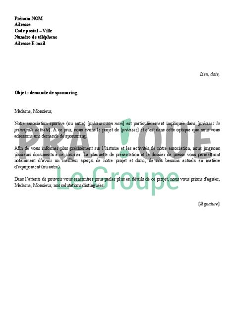 Lettre Demande De Rendez Vous Visa Lettre De Demande De Sponsor Through Processing For Financial Services The Complete