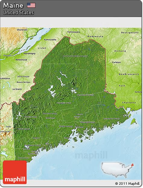physical map of maine free satellite 3d map of maine physical outside