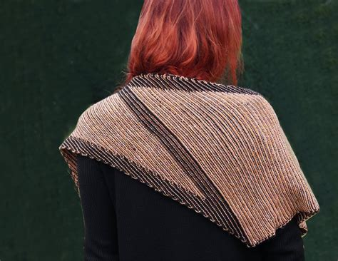 two color knitting knitting pattern shawl quot two color play donar quot
