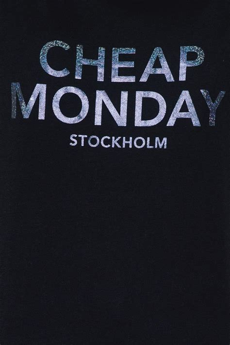 cheap monday lyst cheap monday have tee foil logo in black