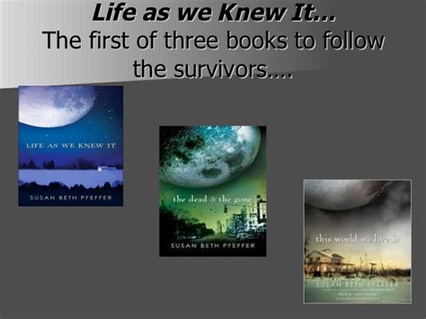 themes of the book life as we knew it life as we knew it