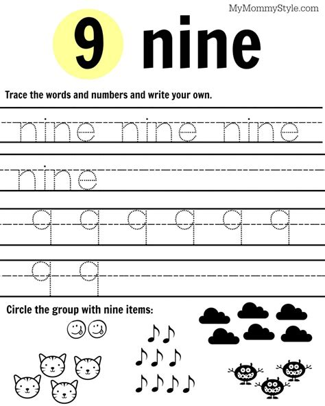 Number The Worksheets by Free Printable Number Worksheets 1 9 My Style
