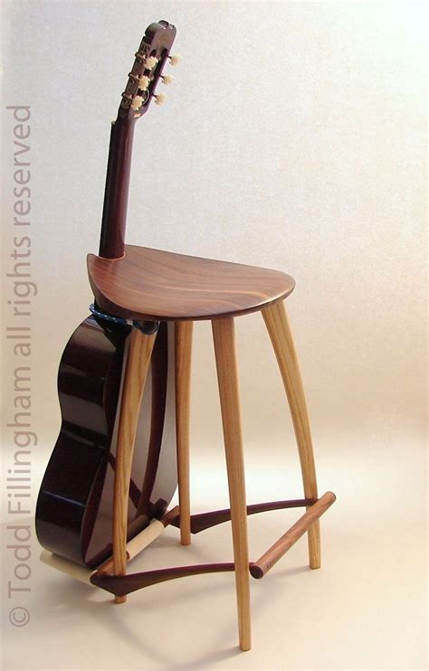 Guitar Stool With Back by Guitar Stool Guitar Stand Added This Back Onto Etsy