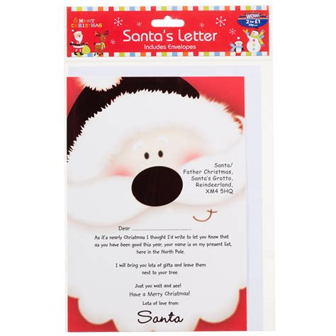 Response Letter From Santa b m santa s reply letter stationery