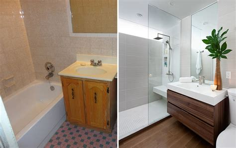 badezimmer vanity chair before after a small bathroom renovation by paul k