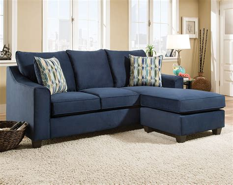 Dark Blue Sofa with Accent Pillows   Nile Blue 2 PC
