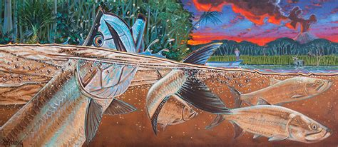 Dekorasi Dinding Abstract Painting 4in1 jungle tarpon fresh the easel derek deyoung
