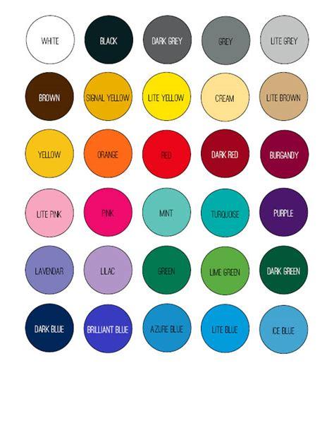 color options vinyl color options