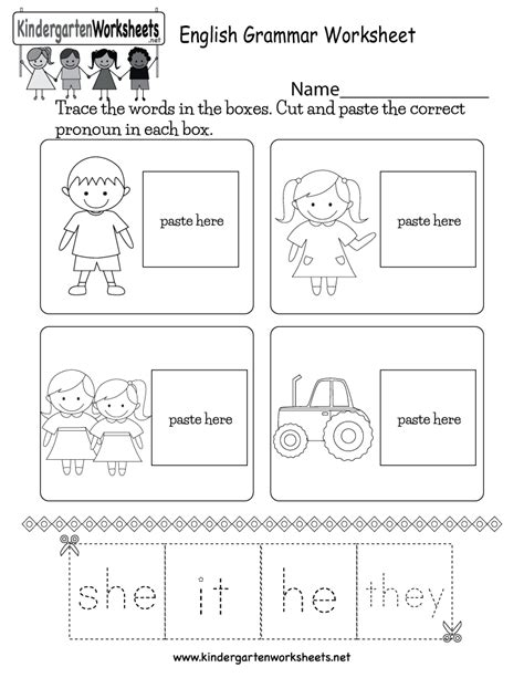 printable worksheets for kindergarten esl free printable english grammar worksheet for kindergarten
