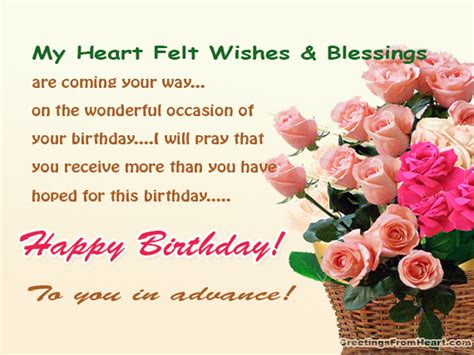 Happy Birthday Wishes In Advance Sms Happy Birthday For My Special Friend Birthday Wishes For